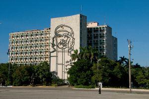 Cuba, edificio de El Ché en La Habana